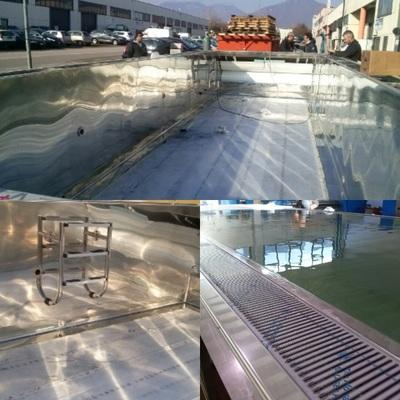 piscine di lusso in acciaio inox