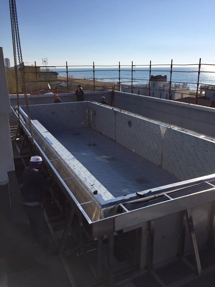 Le piscine di lusso in acciaio inox NOVITA'