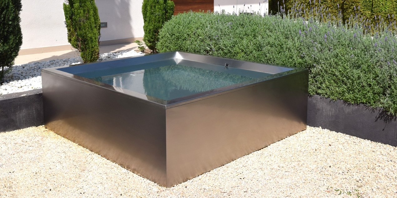 Le piscine di lusso in acciaio inox novita 39 - Piscine in acciaio inox ...